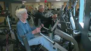 News video: Woman, 98, Works Out At Gym For Those With Heart Disease Risk