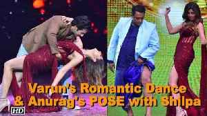News video: Varun's Romantic Dance with Shilpa & Anurag POSES with Shilpa