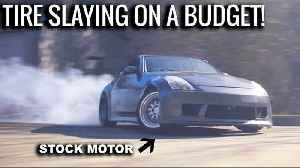 News video: INCREDIBLE Street Drifting in Stock 350Z!