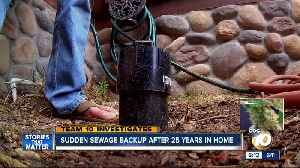 News video: Sudden sewage backup after 25 years in home
