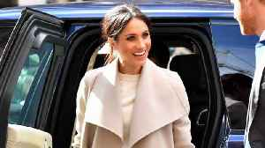 News video: Meghan Markle Opts for Messy Hair Look at Radio Station Event