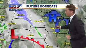 News video: Mostly sunny, warming slightly Friday