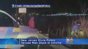 News video: New Jersey State Police Rescue Man Stuck In Swamp