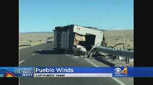 News video: Strong Winds Blow Over Vehicles, Stoke Small Wildfires