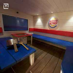 News video: This Burger King Sauna Is Fast Food... Scandinavian Style