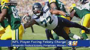 News video: NFL Player Charged With Injury To Elderly Paraplegic While Trying To Get On Field