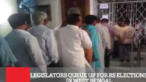 News video: Legislators Queue Up For Rs Elections In West Bengal