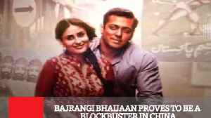 News video: Bajrangi Bhaijaan Proves To Be A Blockbuster In China