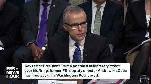 News video: Andrew McCabe Slams Trump For Celebratory Tweet After His Firing