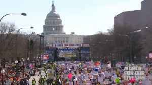 News video: Gun Control Advocates Gather For Washington D.C.'s 'March For Our Lives' Rally