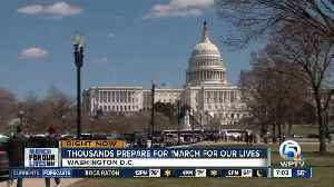 News video: Marjory Stoneman Douglas students gather in DC, prepare for march