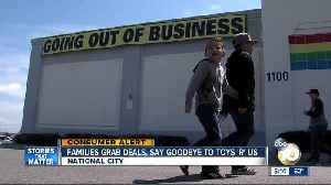 News video: Families grab deals, say goodbye to Toys 'R' Us