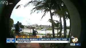 News video: Frustrated Pacific Beach resident confronts suspected thief