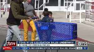 News video: Customers aren't impressed by Toys 'R' Us liquidation sale