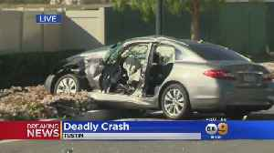 News video: 1 Teen Dead, 6 People Hurt In Crash In Tustin