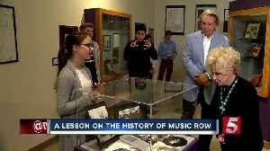 News video: Country Artist Brenda Lee Visits Music Row Museum