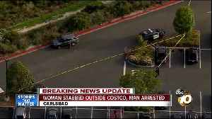 News video: Woman stabbed outside Carlsbad Costco, man arrested