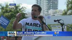 News video: 'Today Is The Day': Supt. Carvalho To March For Our Lives Attendees