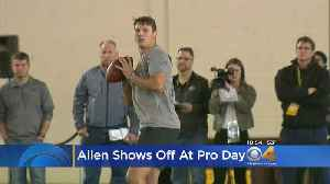 News video: Josh Allen Shines At Wyoming Pro Day