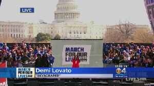 News video: Demi Lovato Performs At March For Our Lives In Washington, D.C.