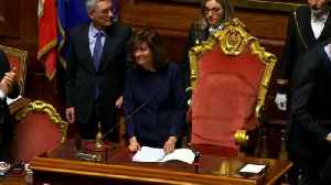 News video: Italy's election winners join forces to elect new parliamentary speakers
