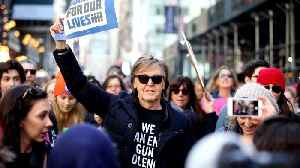 News video: Paul McCartney Honors John Lennon at March For Our Lives