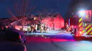 News video: Woman forced from townhome by fire in Lexington