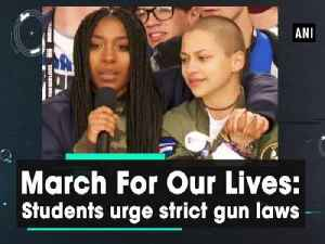 News video: March For Our Lives: Students urge strict gun laws