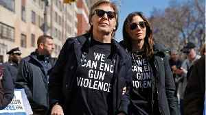 News video: George Clooney, Paul McCartney and Other Celebrities Join March for Our Lives