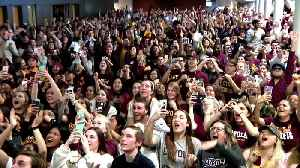 News video: Loyola Fans Cheer The Team Onto The Final Four