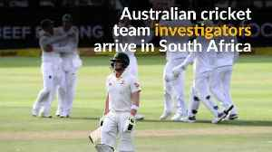 News video: Australian cricket team investigators in South Africa for ball tampering probe