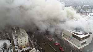 News video: Death Toll Rises In Russian Mall Fire, Many Children