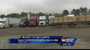 News video: Electronic logging device deadline looms for trucking industry