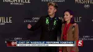 News video: 'Nashville' TV Cast Performs At The Opry