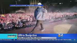 News video: Will Smith Makes Surprise Appearance At Ultra