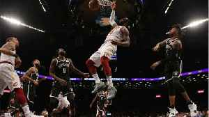 News video: LeBron James Posterizes 2 Brooklyn Nets Defenders On Way To Cavs Win