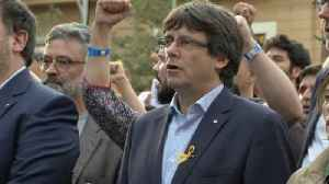 News video: Catalan ex-leader to face German court amid mounting protests