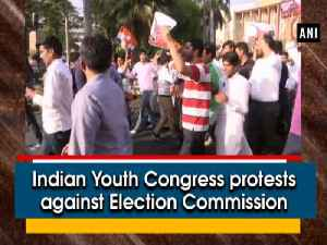 News video: Indian Youth Congress protests against Election Commission
