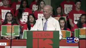 News video: Joe Biden Says He Regrets Comment About Going To Blows With Trump
