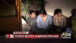 News video: Dozens detained in human smuggling investigation at Phoenix home