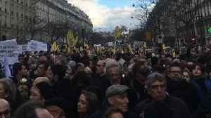 News video: Thousands March in Paris for Mireille Knoll, Murdered Holocaust Survivor