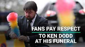 Fans Pay Respect To Ken Dodd At His Funeral [Video]