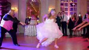 News video: Energetic Father-Daughter Dance Mashup Surprises Wedding Guests