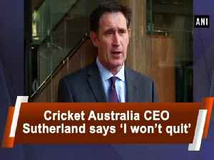 News video: Cricket Australia CEO Sutherland says 'I won't quit'