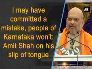 News video: I may have committed a mistake, people of Karnataka won't: Amit Shah on his slip of tongue