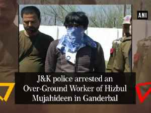 J and K police arrested an Over-Ground Worker of Hizbul Mujahideen in Ganderbal [Video]