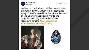 News video: Royal 'Farnese Blue' Diamond With 300 Years Of History To Be Auctioned