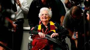 News video: Loyola-Chicago's Sister Jean Takes a Shot at the NBA