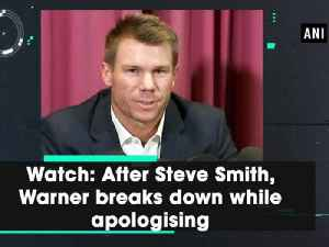 News video: Watch: After Steve Smith, Warner breaks down while apologising