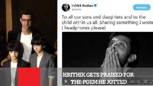 News video: Hrithik Gets Praised For The Poem He Jotted